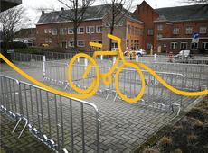 Popup fietsenstalling