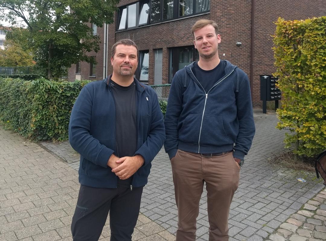 Benny Eyckmans en Pieter Cowé voor de nieuwe locatie LOI